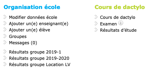 cours dactylographie ecole